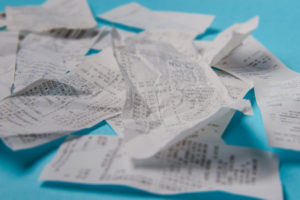 Piles of receipts aren't a good bookkeeping system for your business.